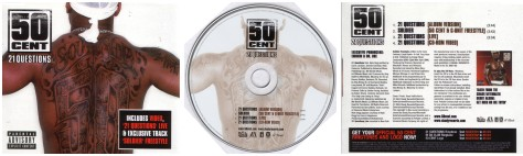 50 Cent's 21 Questions CD Cover